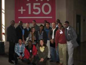 Dr. Ellie Fini and A&T students at MIT