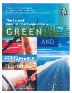 Cover of program for Second International Conference on Green and Sustainable Technology