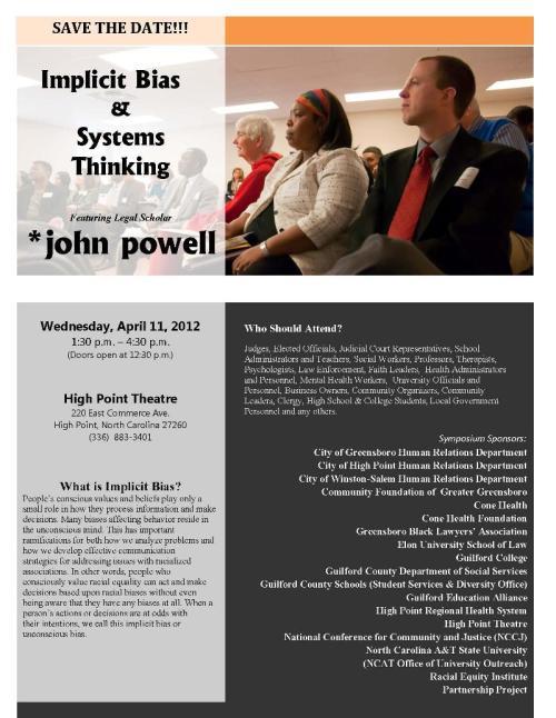 Flyer for seminar on implicit bias