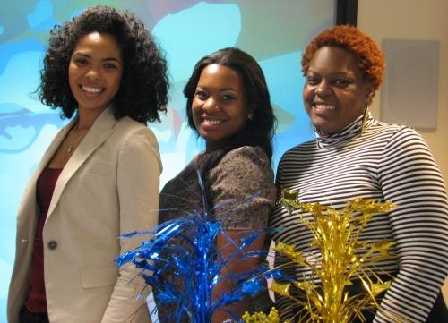 Graduating seniors Felicia Lawrence, Kristin Terry, Ashley Hopper