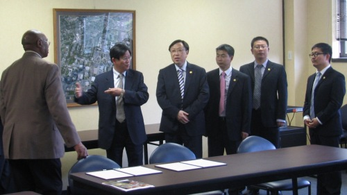 Provost Alexander and Shanghai University delegation