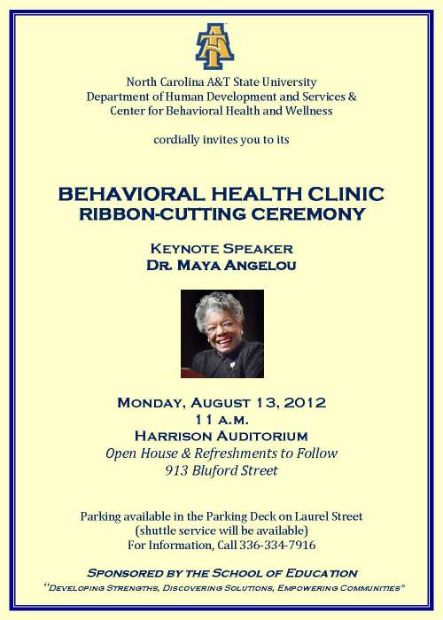 Flyer for Behavioral Health Clinic opening