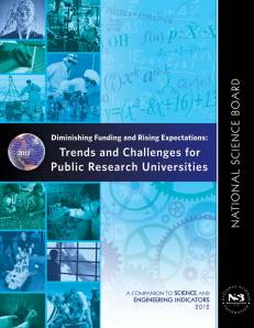 "Cover of National Science Board report ""Diminishing Funding and Rising Expectations"""