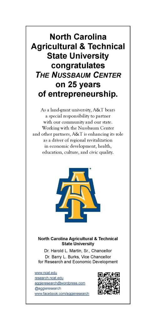 N.C. A&T ad saulting Nussbaum Center