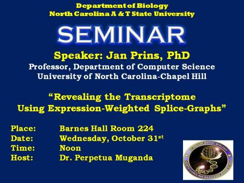 Flyer for Dr. Jan Prins talk