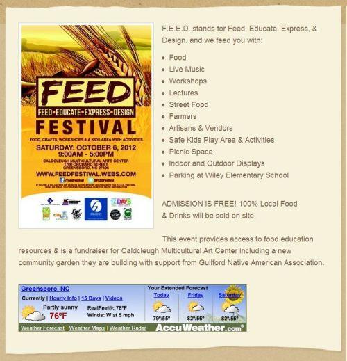 FEED Festival flyer