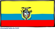 Flag of Ecuador from http://www.boowakwala.com