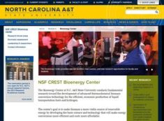 NSF CREST Bioenergy Center screenshot