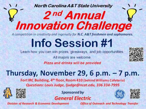 Flyer for Innovation Challenge 2013