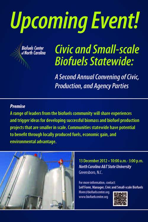 Flyer for biofuels conference