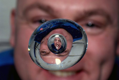Astronaut Andre Kuipers aboard the International Space Station
