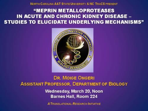 Talk on kidney disease by Dr. Moige Ongeri, March 20, 2013