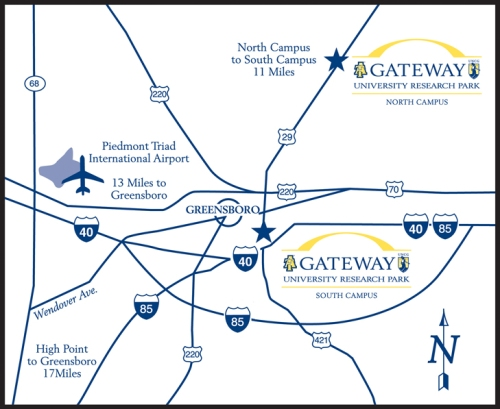 Gateway University Research Park map