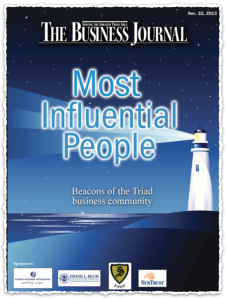 "Cover of The Business Journal's ""Most Influential People"" section"