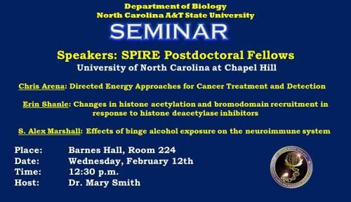Flyer for Biology seminar 2/12/14