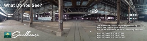 Wide-angle view of the former Carolina Steel plant