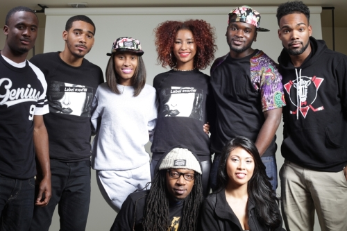 Group photo of the students behind the Sophisticated Genius clothing line