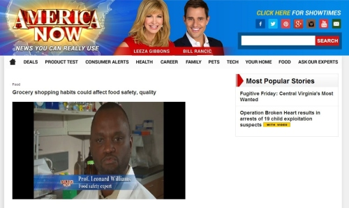 "Screenshot of Dr. Leonard Williams on ""America Now"""