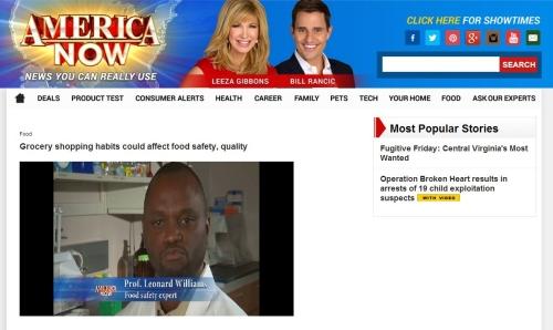 "Screenshot of Dr. Leonard Williams on ""America Now"""
