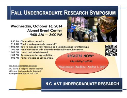 Flyer for symposium