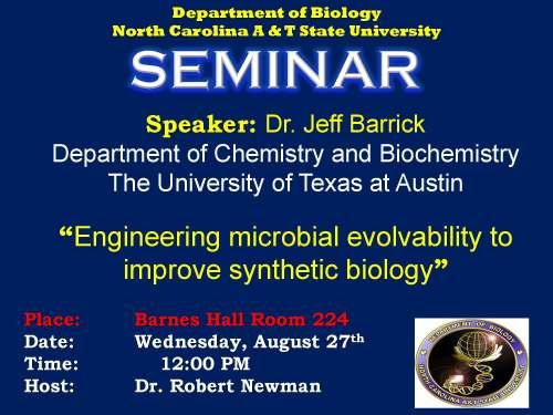 Biology seminar flyer