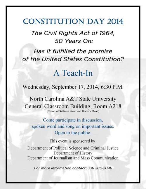 Constitution Day 2014 flyer