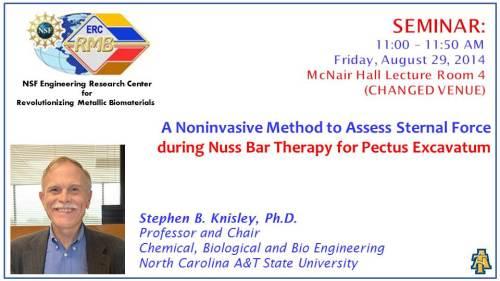 Flyer for ERC seminar, August 29, 2014