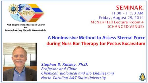 Flyer for ERC seminar, August 29, 2014